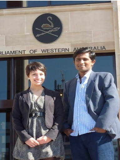 Interns attending the National President's Forum at Parliament House, Perth 2011.
