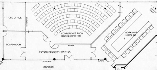 Floor plan of the national office conference centre