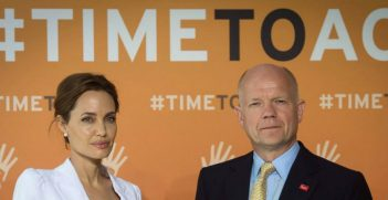 Angelina Jolie and William Hague. Source: Supplied (Facebook)