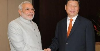 Indian Prime Minister Narendra Modi and Chinese President Xi Jinping met in July this year on the sidelines of BRICS summit in Brazil. Image credit: Twitter (@Narendra Modi)
