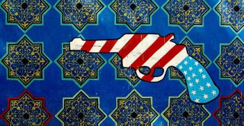 After the Iranian hostage crisis (1979-1981), the walls of the former US embassy were covered in mostly anti-US murals. Image credit: Wikimedia (Phillip Maiwald)