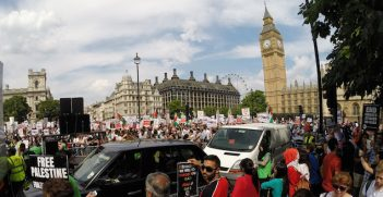 London march for Palestine, July 2014. Image credit: Flickr (Bjpcorp) Creative Commons.