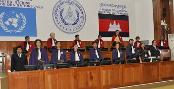 First day of closing statements in the trial against Mr Kaing Guek Eav, alias Duch, the Extraordinary Chambers in the Courts of Cambodia.  Image Credit: Flickr (Extraordinary Chambers in the Courts of Cambodia) Creative Commons.