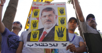 Pro Morsi Protesters after the Coup led by Al-Sisi. Photo Credit: Wikimedia Commons (Hamada Elrasam for VOA) Creative Commons.