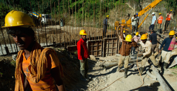 Construction workers in Dagachhu Hydropower Development in Bhutan. Photo Credit: Flickr (Asian Development Bank) Creative Commons.
