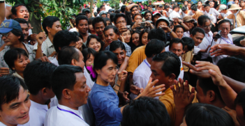 Aung San Suu Kyi remains very popular within Myanmar as the country gears up for the 2015 elections in November. Photo Credit: Wikipedia (Htoo Tay Zar) Creative Commons.