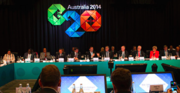 Leaders meet for the 2014 G20 Conference in Australia. Photo Credit: Flickr (GovernmentZA) Creative Commons.