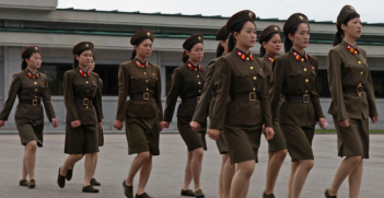 North Korea is the most militarized country in the world today, having the fourth largest army in the world, at about 1100000 armed personnel. Photo Source: Wikimedia.  Creative Commons.