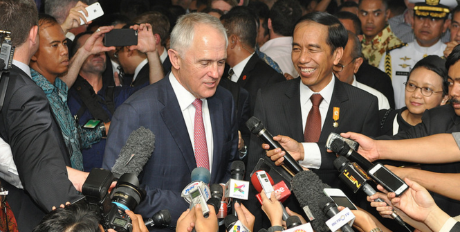 Prime Minister Malcolm Turnbull visits Jakarta. Photo Source: Australian Embassy Jakarta (Flickr). Creative Commons.
