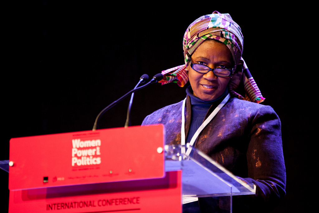 Phumzile Mlambo-Ngcuka, Executive Director of UN Women, during her speech on women's political participation. Women, Power and Politics Conference in Oslo, 14-15 November 2013. Photo: Julie Lunde Lillesæter/PRIO. Source: Flickr, FOKUS_kvinner