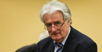 Radovan Karadžić at the start of the Defence Case. Photo source: ICTY Photos (Flickr). Creative Commons.