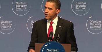 President Obama speaking at the NSS in 2010. Photo source: The White House (Wikimedia). Public Domain.