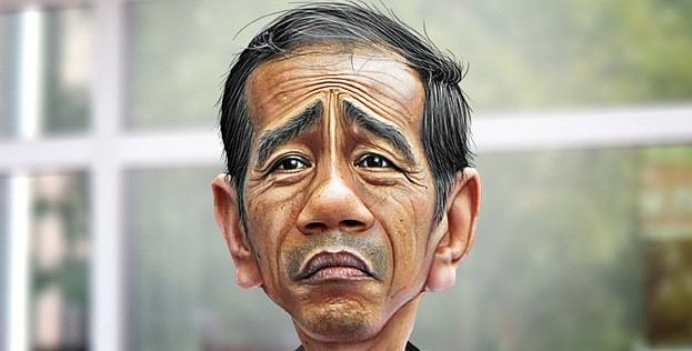 Joko Widodo caricature Photo credit: DonkeyHotey (Flickr) Creative Commons