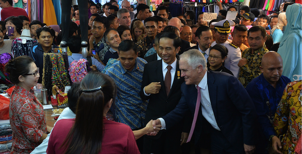 Malcolm Turnbull visiting Jakarta. Photo source: Australian Embassy Jakarta (Flickr). Creative Commons.
