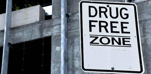Drug Free Zone. Photo credit: Difei Li (Flickr) Creative Commons