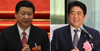 Xi Jinping and Shinzo Abe Photo Credit: Day Donaldson (Flickr) Creative Commons
