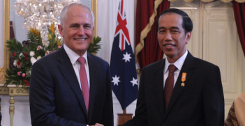 Turnbull's and Jokowi's halcyon days Photo Credit: DFAT / Timothy Tobig (Wikimedia Commons) Creative Commons