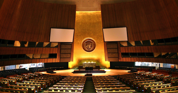 Empty UN General Assembly Building Photo Credit: Patrick Gruban (Wikimedia Commons) Creative Commons