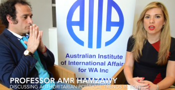 Interview with Professor Amr Harzawy Photo Credit: AIIA (YouTube screenshot)