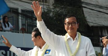 Sam Rainsy and Kem Sokha Photo Credit: VOA (Wikimedia Commons) Creative Commons