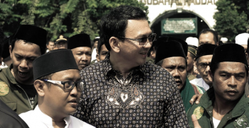 Ahok, Photo from Ahok Basuki TPurnama's Twitter account.