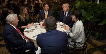 From Facebook - Trump meeting with Abe at Mar-a-Lago