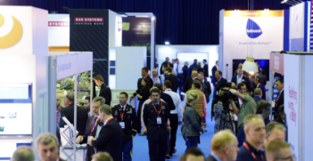 Attendees at ITEC2017, Europe's largest military defence, training, simulation and education event. Photo from @ITEC2017