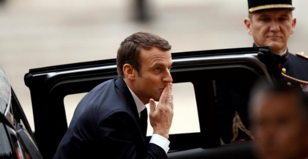Macron's inauguration. Photo from Reuters Twitter account.