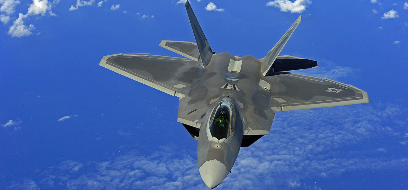 USAF F22 Flies over Guam / Pic Credit: US Air Force photo by Staff Sgt. Jacob N. Bailey