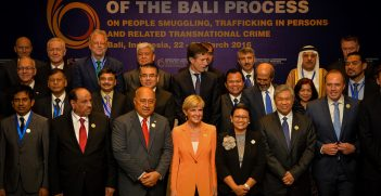 Foreign Minister Julie Bishop co-chairing a previous Bali Process/ Credit: Australian Embassy Jakarta