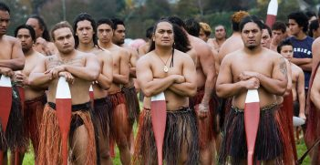 New Zealand Maori rowing ceremony