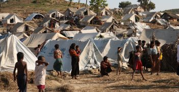A temporary camp in Rakhine State