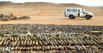 In the aftermath of the revolution in Libya, large quantities of unexploded ordnance and stockpiles of munitions were exposed.