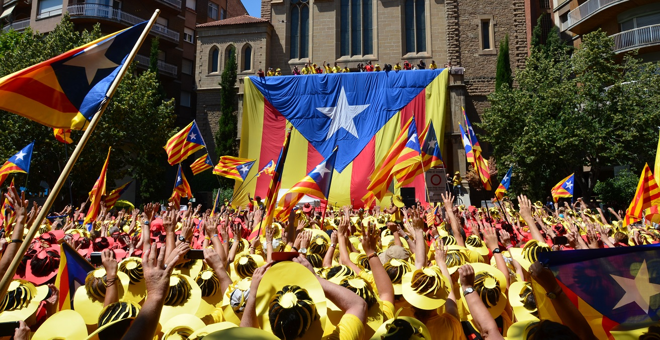 A Catalonia independence protest
