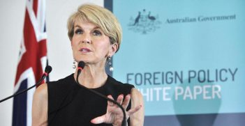 Minister for Foreign Affairs Julie Bishop at the Foreign Policy White Paper development launch.