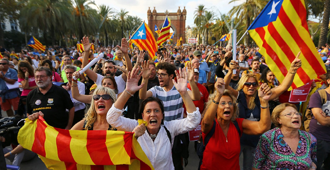 A pro-independence rally in Barcelona