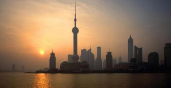 Dawn breaks in Shanghai