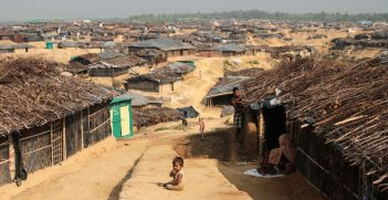 A refugee camp for Rohingya located in Bangladesh