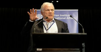 John McCarthy AO FAIIA at the 2018 AIIA National conference on 15 October (Credit: Lauren Skinner, former AIIA intern)