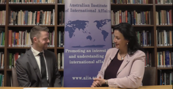 AIIA National researcher Matt Longworth interviewed Her Excellency Ivanna Klympush-Tsintsadze, the Vice Prime Minister of Ukraine for European and Euro-Atlantic Integration, at the AIIA ACT on 22 October 2018.