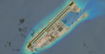 Land reclamation on Fiery Cross Reef, Spratly Islands; Image source: Center for Strategic & International Studies' Asia Maritime Transparency Initiative.