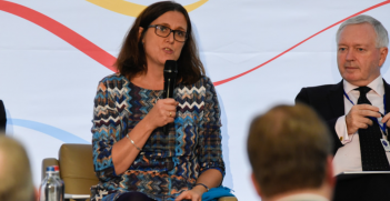 Cecilia Malmstrom at the EUALF. Source: Flickr.