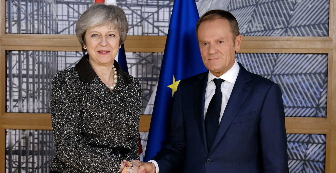 Prime Minister Theresa May and EU Council President Donald Tusk. Source: Number 10, Flickr