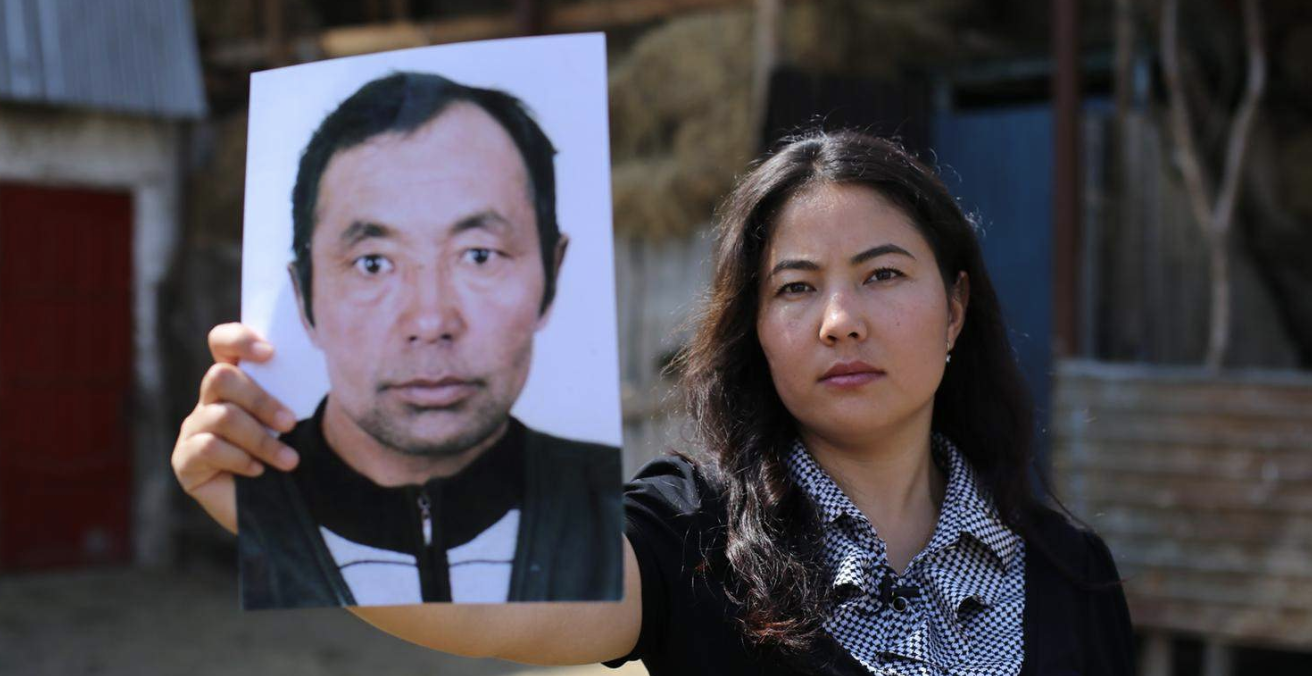 Bota Kussaiyn seeks news about her father Kussaiyn Sagymbai who is missing in XUAR. Source: Amnesty International