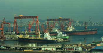 Dalian in northeastern China is one of the ports where Australian ships have been delayed in unloading their cargo. Source: dmytrok, Flickr