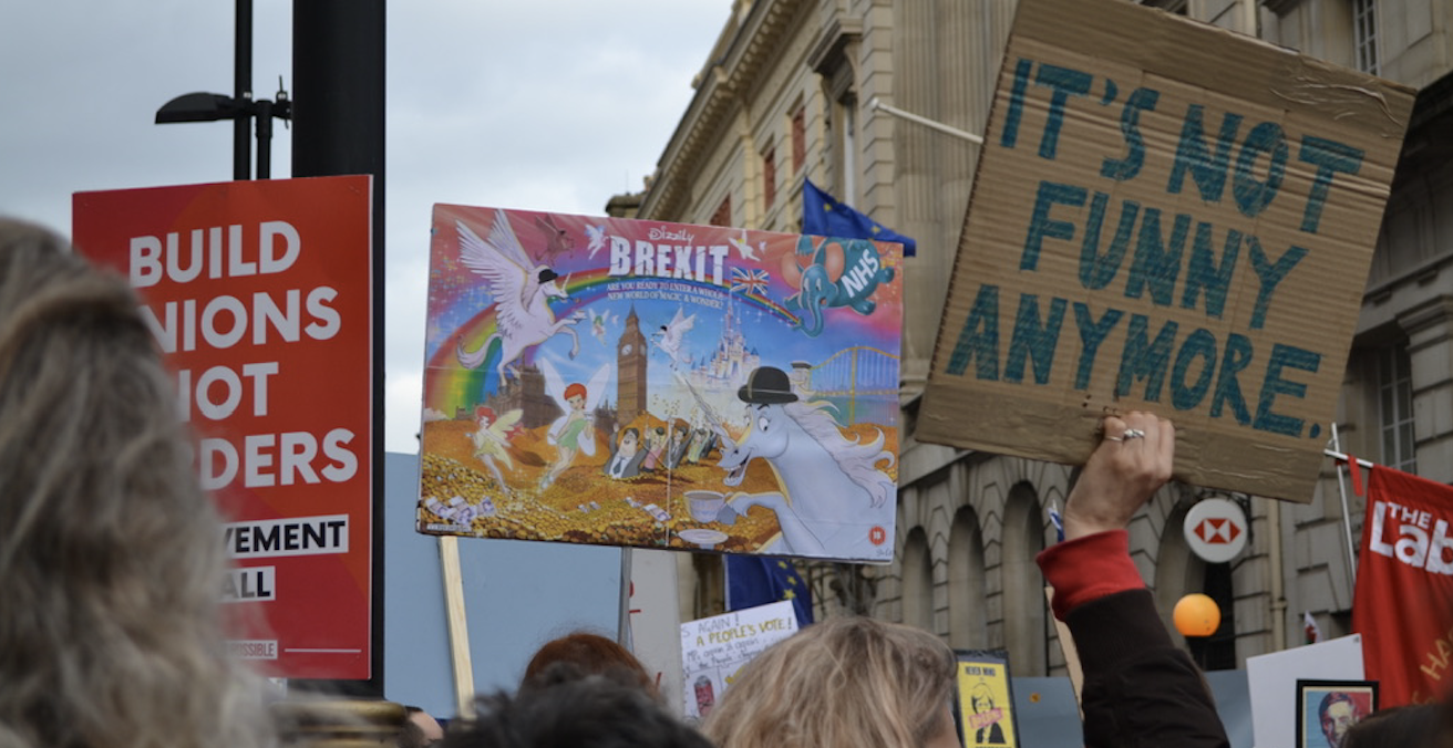 This week Theresa May sat down with Jeremy Corbyn to try to reach a compromise on the Brexit deal. By all accounts, the results were underwhelming. Source: Dom Pates, Flickr