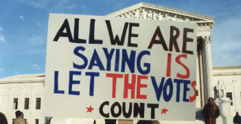 Protestors against including a question on citizenship in the once-a-decade US Census received a relieving result in 2000 (pictured), however two decades later the Supreme Court will likely include the question — which will likely discourage participation rates. Source: Wikimedia commons http://bit.ly/2VF7NEj