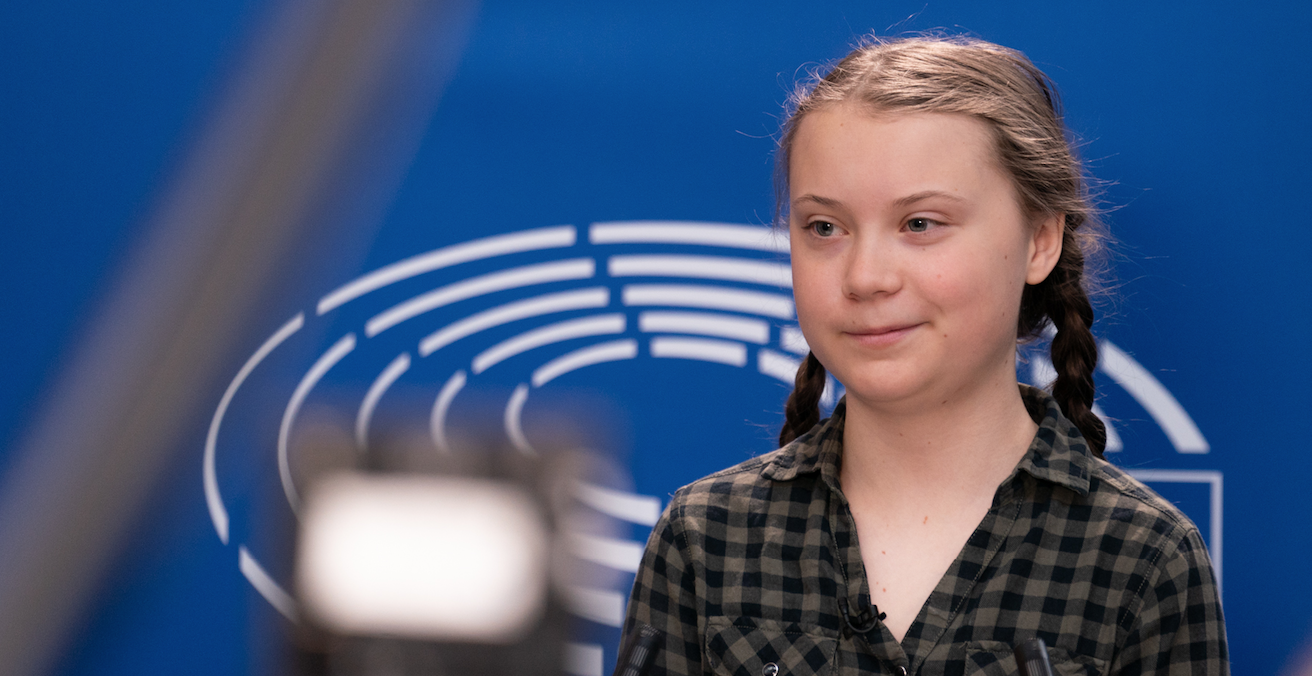 Greta Thunberg speaks on climate change at the European Parliament. Source: European Parliament, Flickr http://bit.ly/2K5U5rY