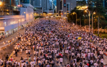 The Hong Kong People protest in their city's streets. Source: Flickr user doctorho http://bit.ly/2Mvmw5l