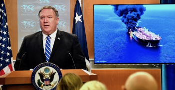 U.S. Secretary of State Michael R. Pompeo deliver remarks to the media in the press briefing room at the U.S. Department of State in Washington, D.C., June 13, 2019. Source: State Department official blog, Dipnote http://bit.ly/2YHPEaQ